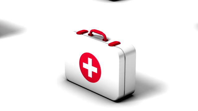 endless first aid kits vertigo effect - first aid kit stock videos & royalty-free footage