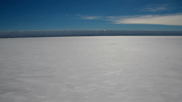 endless ice and snow shelf, antarctica - south pole stock videos and b-roll footage