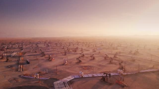 endless oil field - drone shot - gasoline stock videos & royalty-free footage