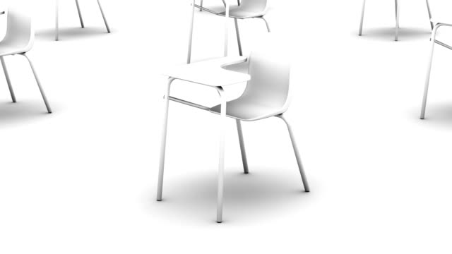 Endless School Chairs vertigo effect (white)