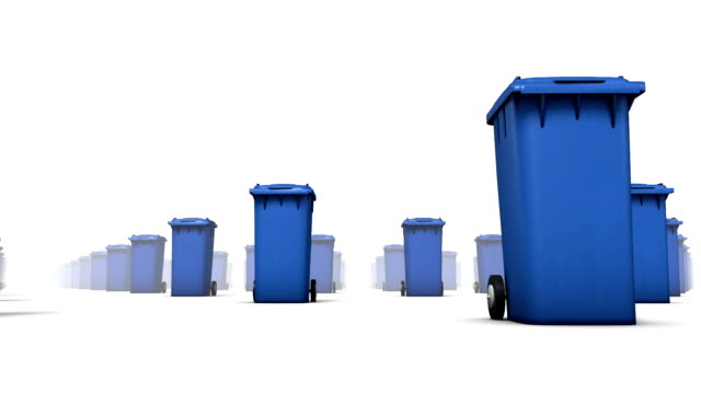 Endless Trashcans low angle loop (Blue)