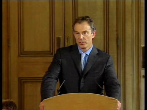 ends sanctions; england london int press arriving for prime minister's press briefing tony blair mp press conference sot - 'it is completely wrong to... - weapons of mass destruction stock videos & royalty-free footage