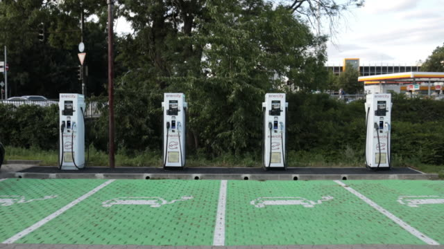 enercity car charging station in hanover, lower saxony, germany, on thursday, july 23, 2020. - alternative fuel vehicle stock videos & royalty-free footage