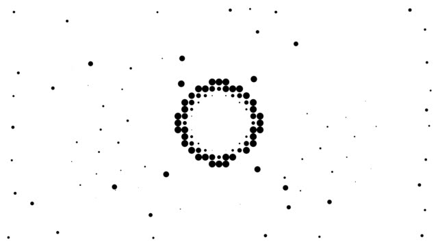 circle - energetic field, pure black dots (loop) - spotted stock videos & royalty-free footage