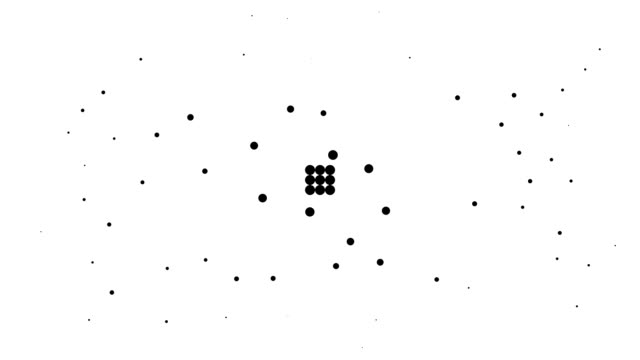 RECTANGLE - energetic field, pure black dots (TRANSITION)