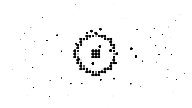 RECTANGLE / CIRCLE - energetic field, pure black dots (LOOP)