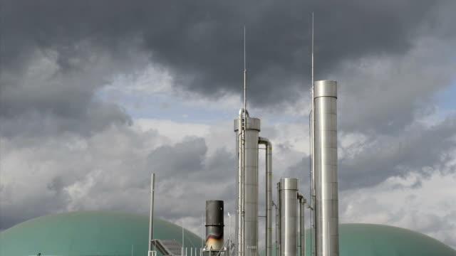 Energiewende, Biogas plant, Nachhaltigkeit, Time Lapse