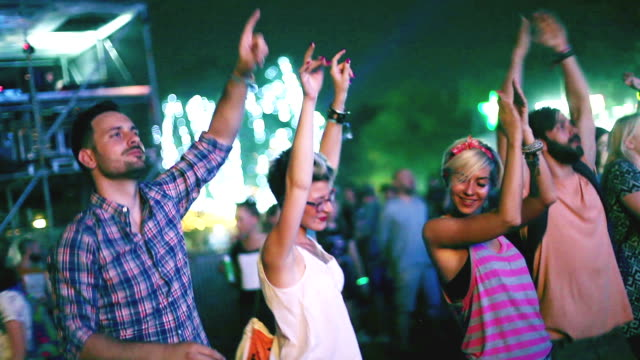 Energized people on concert