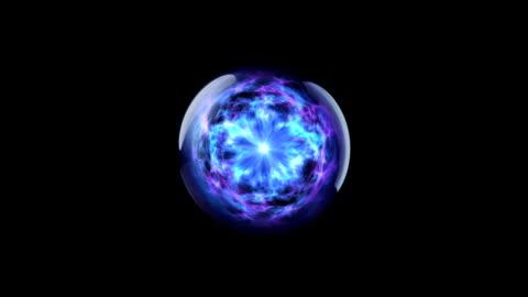 energy ball 02 blue - plasma ball stock videos & royalty-free footage