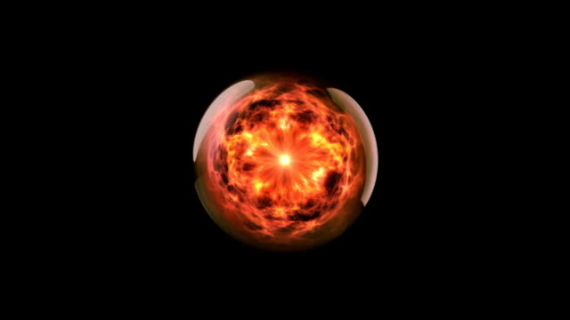 energy ball 02 fire - crystal ball stock videos & royalty-free footage
