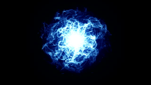 energy ball effect blue - smoke physical structure stock videos & royalty-free footage