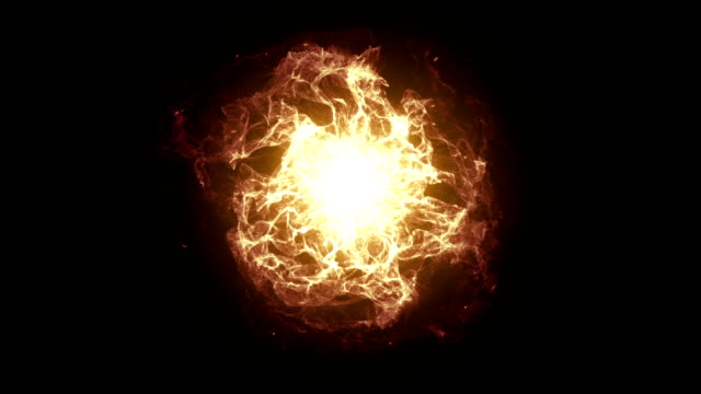 energy ball effect fiery - nucleus stock videos & royalty-free footage