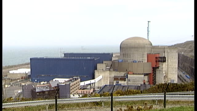 britain and france to sign nuclear energy deal t12040620 france normandy flamanville ext various general views of nuclear power stations - la manche stock videos and b-roll footage