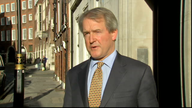 energy companies could be fined over christmas blackouts / another storm on the way london owen paterson mp interview sot - オーウェン・パターソン点の映像素材/bロール