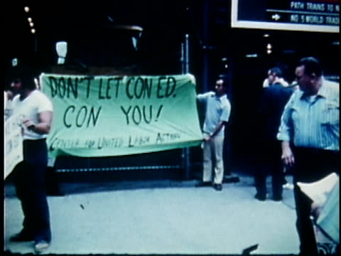 vídeos de stock, filmes e b-roll de energy crisis and protests, usa, audio - 1973