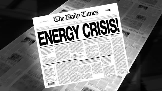 Ölkrise-Schlagzeile (zeigen Loops