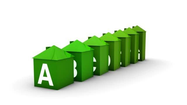 vídeos de stock, filmes e b-roll de a eficiência energética house gráfico - eficiência energética