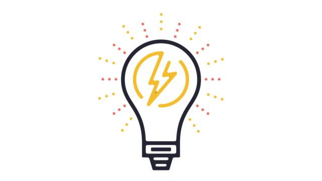 Energy Efficiency Icon Animation