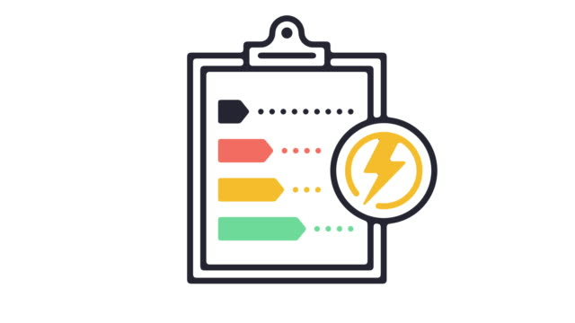 Energy Efficiency Line Icon Animation