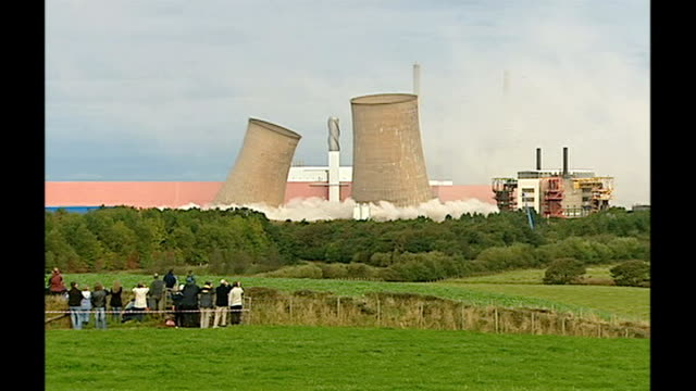 government approves construction of new nuclear power plants t29090727 cumbria calder hall cooling towers at calder hall the world's first full scale... - sellafield nuclear power station stock videos & royalty-free footage