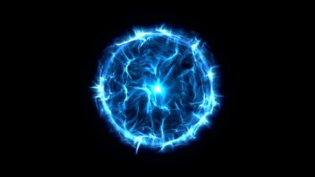 energy or plasma ball blue - ball stock videos & royalty-free footage
