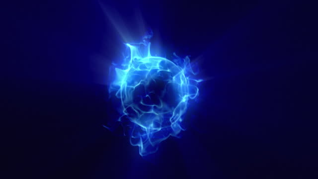 energy or plasma ball new blue - nucleus stock videos & royalty-free footage
