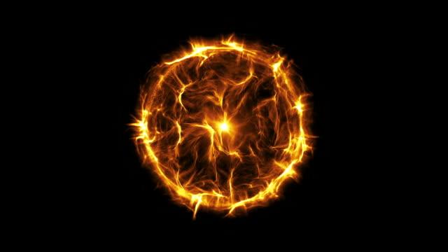 Energia ou Bola de plasma nova cor-de-laranja