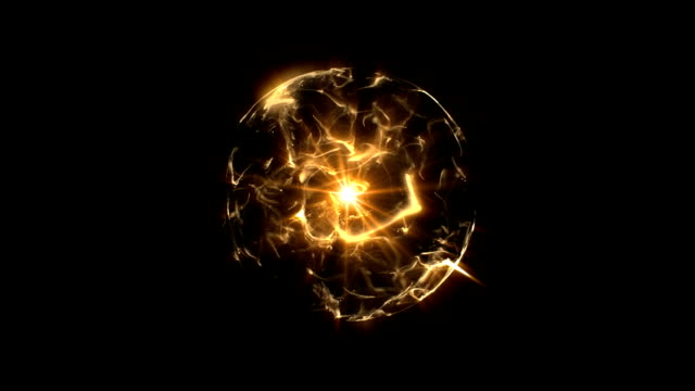 Energy or plasma ball orange