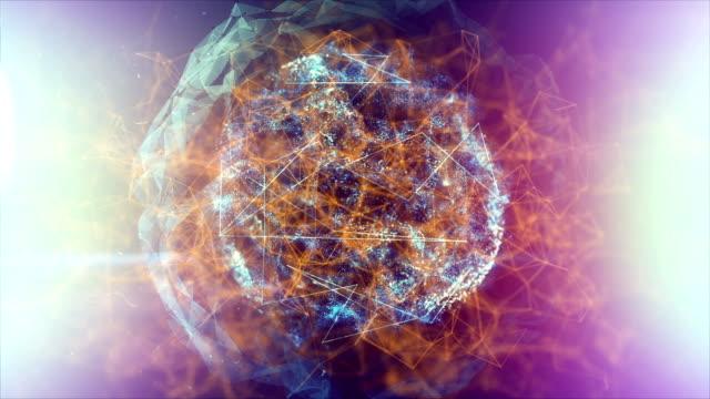 vídeos y material grabado en eventos de stock de bola de energía o plasma - cristal estructura física