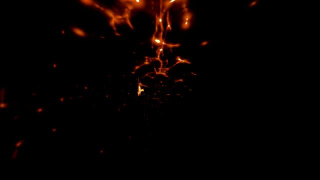 vídeos y material grabado en eventos de stock de partículas de energía - vector