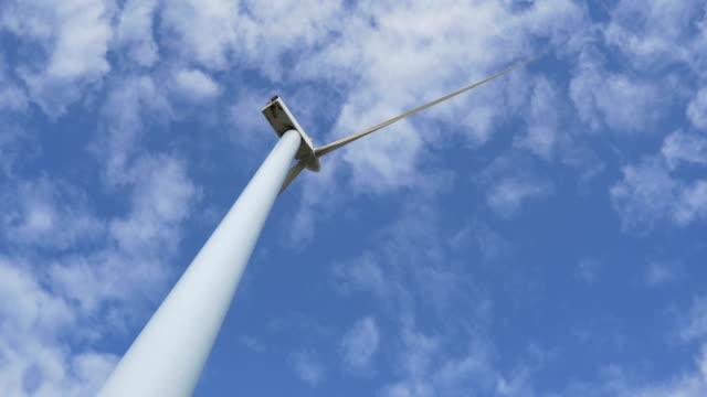 energy production with windmill - lama oggetto creato dall'uomo video stock e b–roll