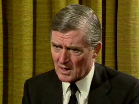 energy secretary, cecil parkinson denies there have been any safety cutbacks in the oil industry, in light of the piper alpha disaster. - alpha cell stock videos & royalty-free footage