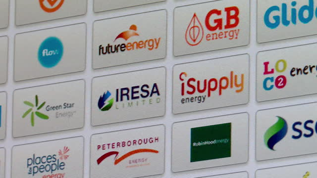 energy supplier companies being scrolled through on comparison website, searching for best energy deals - number stock videos & royalty-free footage