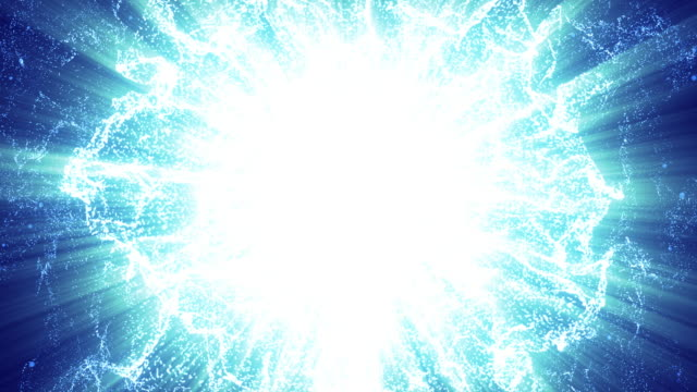 energy wave particle,blue background