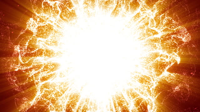 energy wave particle,gold background