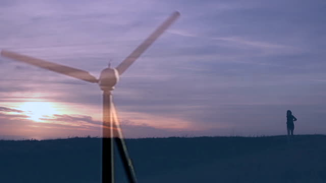 Energy. Wind turbine and runner.
