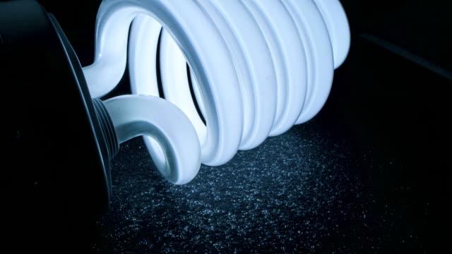 energy-efficient lightbulb - energy efficient lightbulb stock videos & royalty-free footage