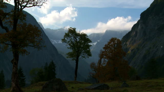 t/l eng valley in the karwendel mountains in tyrol - karwendel mountains stock videos and b-roll footage
