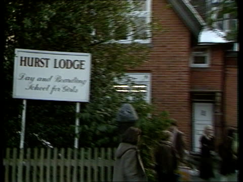 Engagement of Prince Andrew and Sarah Ferguson is announced ITN Hampshire Dummer Sign 'Hurst Lodge Day Boarding School for Girls' PULL OUT girls into...
