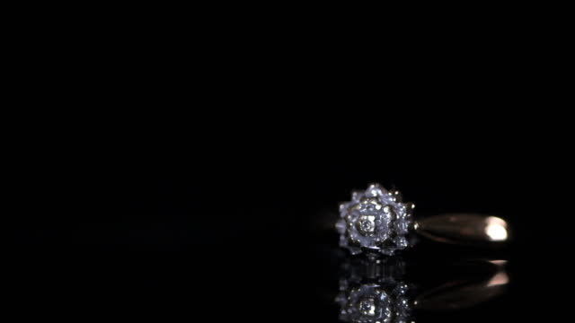 engagement ring on dark background - intricacy stock videos & royalty-free footage