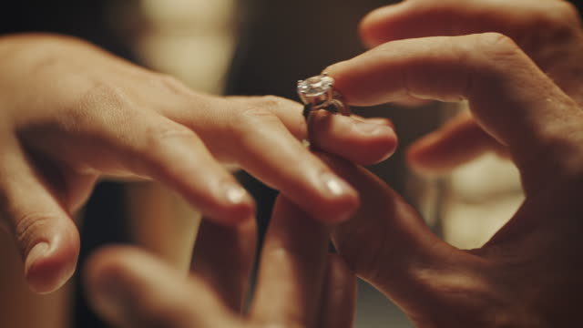 engagement ring - love emotion stock videos and b-roll footage