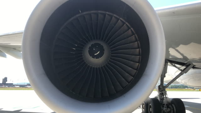 engine blades turning in the wind cfm56 60fps - engine control unit stock videos and b-roll footage