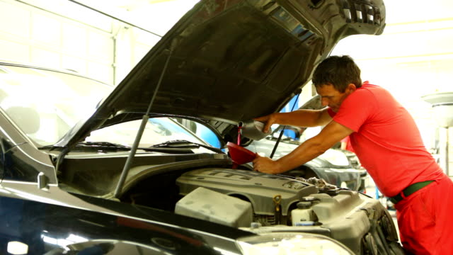 Engine oil replacement