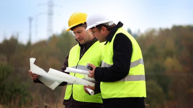 Ingenieur und Bau foreman