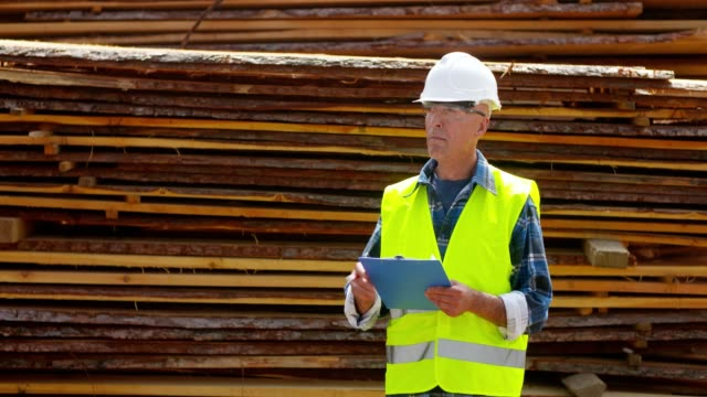 engineer architect at wood industry. carpenter at construction site. - lumberjack stock videos & royalty-free footage