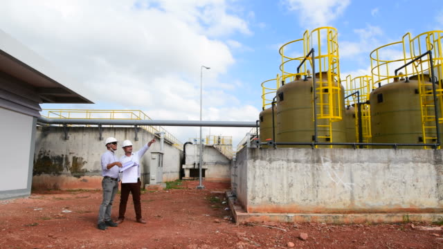 engineer checking water treatment plant - water plant stock videos and b-roll footage