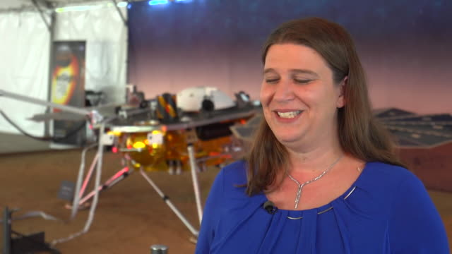 nasa engineer julie wertz chen saying the insight spacecraft will give mars its first checkup in 4 billion years and that a seismometer will measure... - solar system stock videos & royalty-free footage