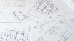 Engineering house drawings and blueprints.