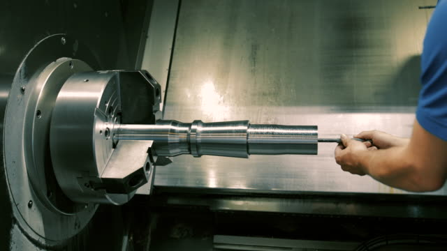 engineering in a modern german machine factory - ステンレス点の映像素材/bロール