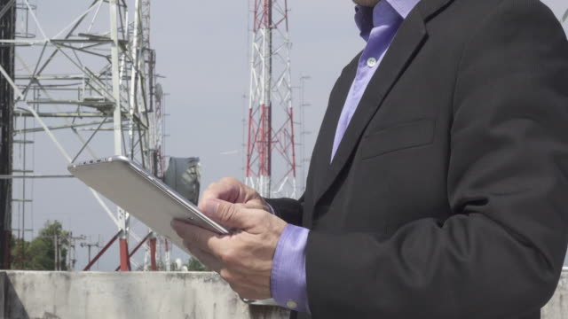 engineerng working with tablet - telecommunications equipment stock videos and b-roll footage